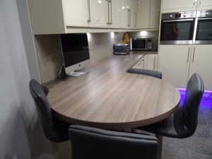 1200mm wide Curved Laminate Worktop