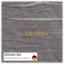 GRS442 Bril - Granite Brasila Grey Gloss