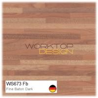 WS673 Fb - Fine Baton Butcherblock Dark