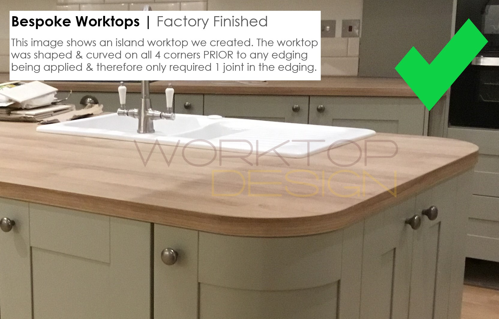 worktops cut to size jointed shaped curved edged. Black Bedroom Furniture Sets. Home Design Ideas