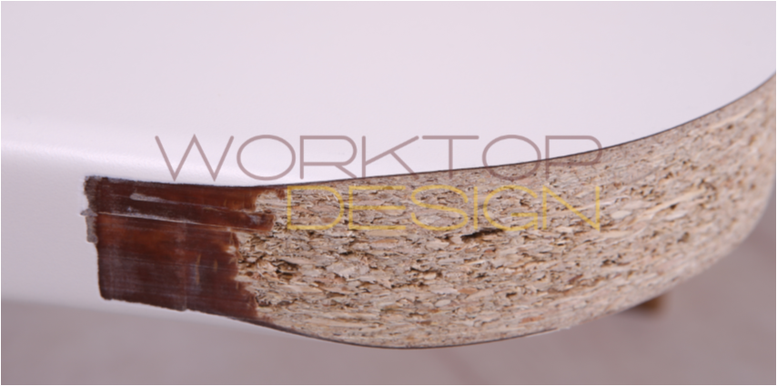 You cannot fully radius a postformed worktop!
